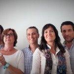 Parte del equipo comercial que asistió al curso con la docente, Mónica Niño Romero.