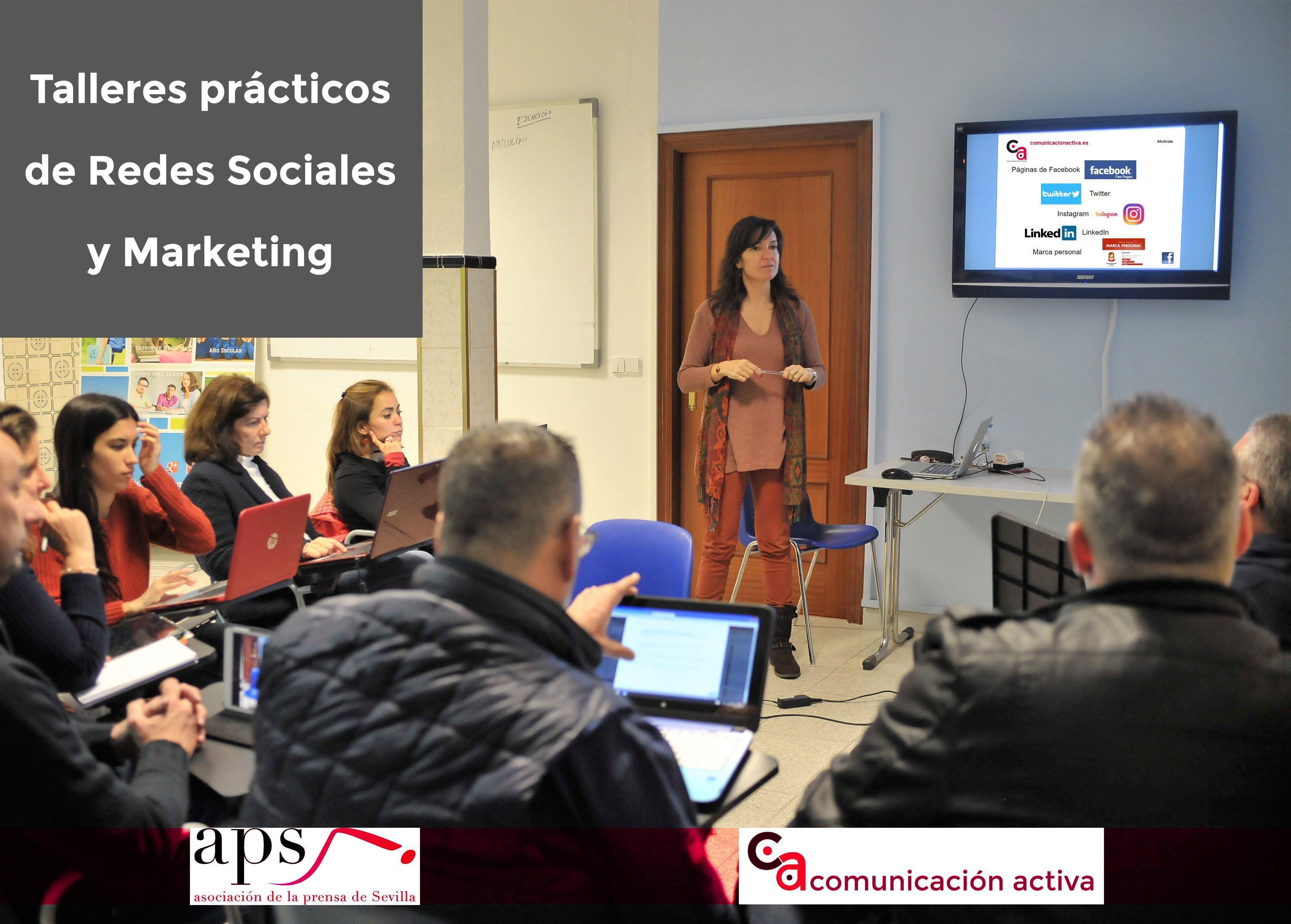 Talleres prácticos de Redes Sociales y Marketing